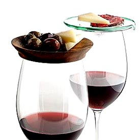 wine glasses and tapas